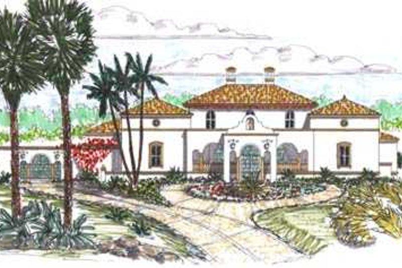 Mediterranean Style House Plan - 4 Beds 4.5 Baths 4638 Sq/Ft Plan #76-114