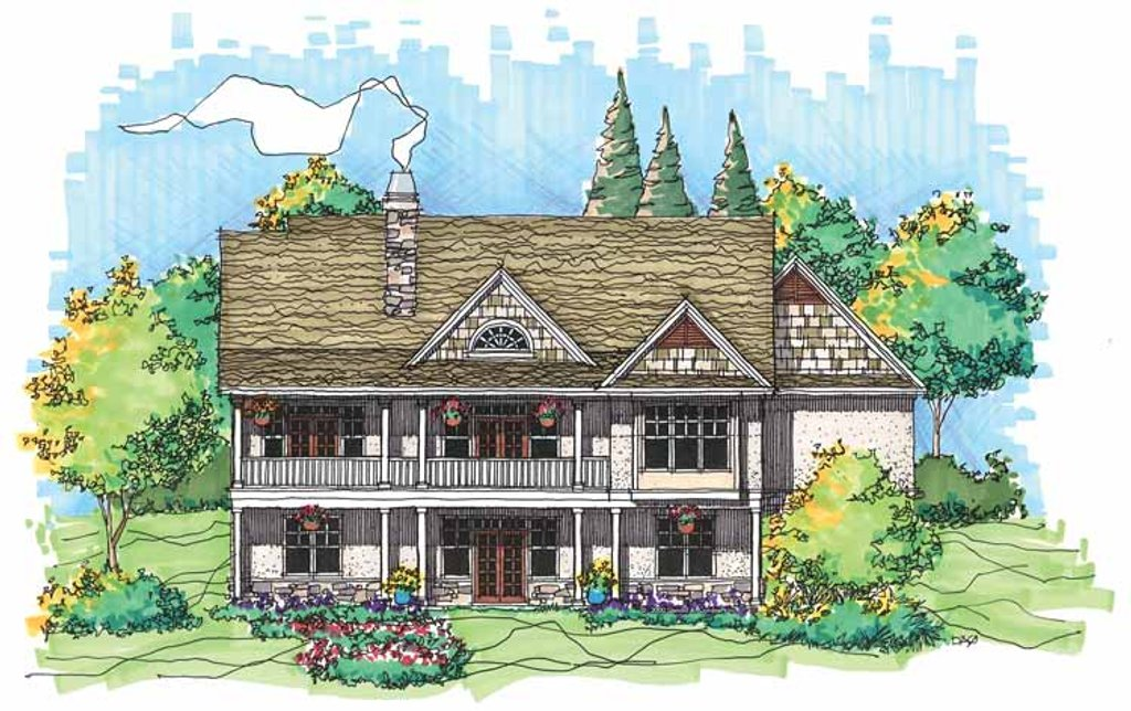 Craftsman Style House Plan - 3 Beds 2.5 Baths 2904 Sq/Ft Plan #929 on