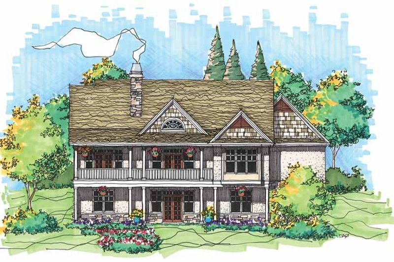 Craftsman Exterior - Rear Elevation Plan #929-562