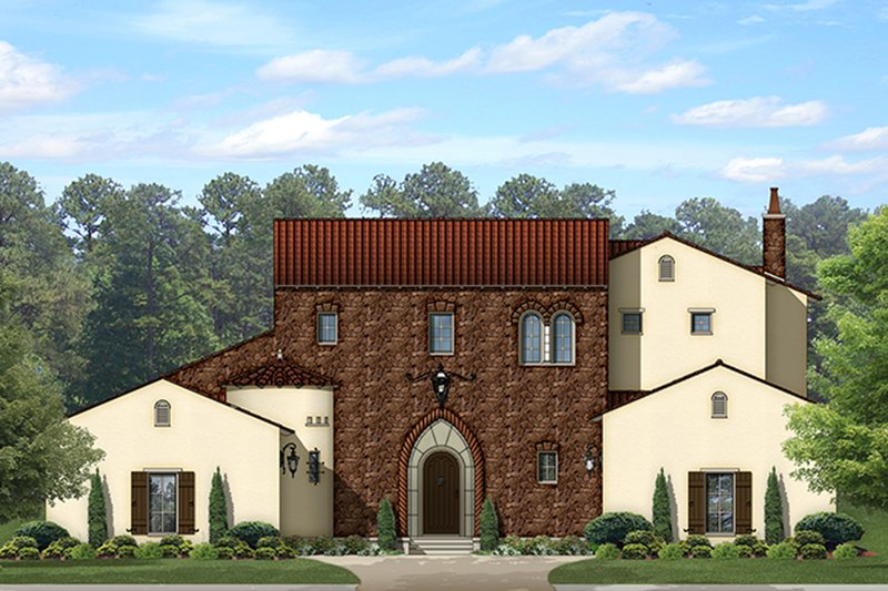 House Plan Design - Mediterranean Exterior - Front Elevation Plan #1058-153