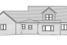Craftsman Exterior - Rear Elevation Plan #46-822