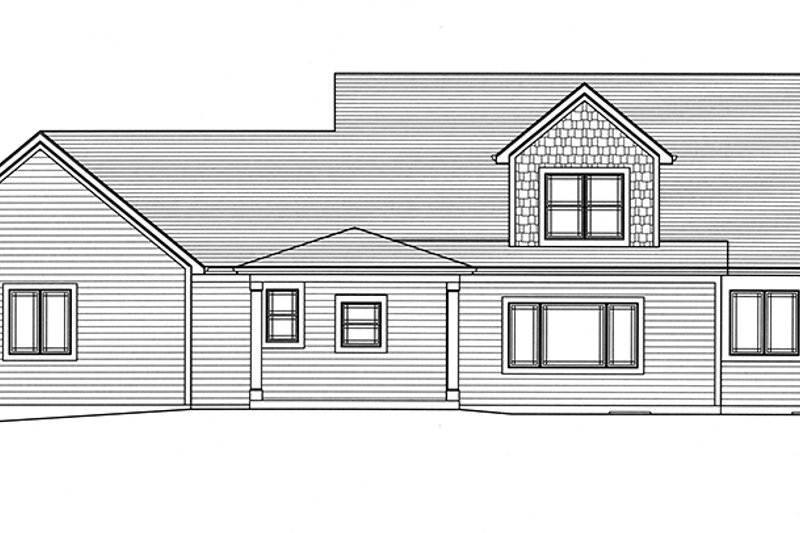 Craftsman Exterior - Rear Elevation Plan #46-822 - Houseplans.com