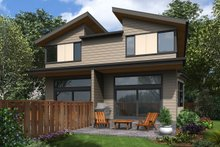 Contemporary Exterior - Rear Elevation Plan #48-1020