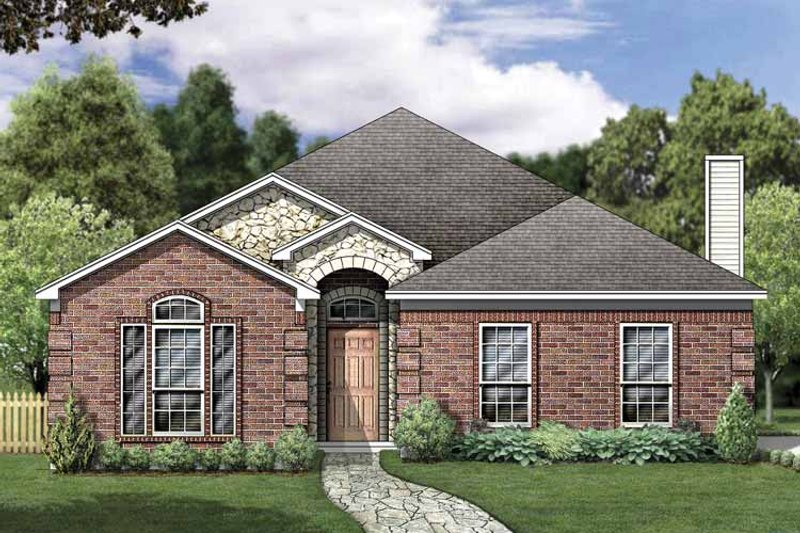 Traditional Exterior - Front Elevation Plan #84-764 - Houseplans.com