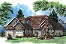 House Design - Traditional Exterior - Front Elevation Plan #18-281