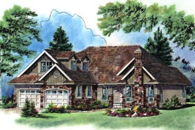 House Blueprint - Traditional Exterior - Front Elevation Plan #18-281