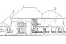 House Plan Design - European Exterior - Rear Elevation Plan #417-695