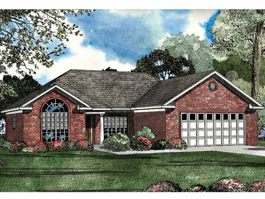 Ranch style house plan 3 beds 2 baths 1485 sq ft plan for Home plan com