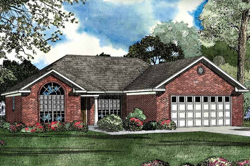 Ranch Exterior - Front Elevation Plan #17-3069 - Houseplans.com