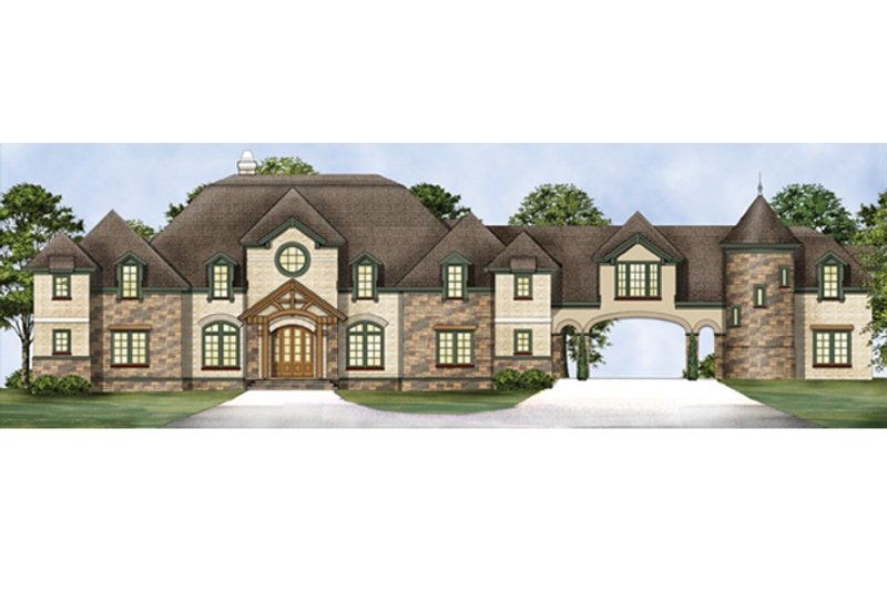 Mediterranean Exterior - Front Elevation Plan #119-414
