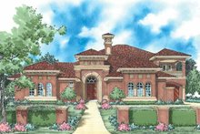 House Plan Design - Mediterranean Exterior - Front Elevation Plan #930-57