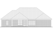 European Style House Plan - 3 Beds 2 Baths 2000 Sq/Ft Plan #430-73 Exterior - Rear Elevation