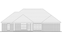 European Exterior - Rear Elevation Plan #430-73