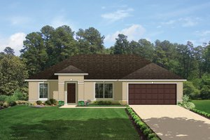 Mediterranean Exterior - Front Elevation Plan #1058-33