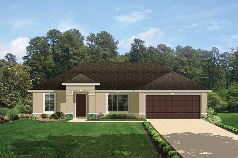 Architectural House Design - Mediterranean Exterior - Front Elevation Plan #1058-33