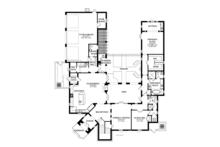 Mediterranean Floor Plan - Main Floor Plan Plan #1058-13