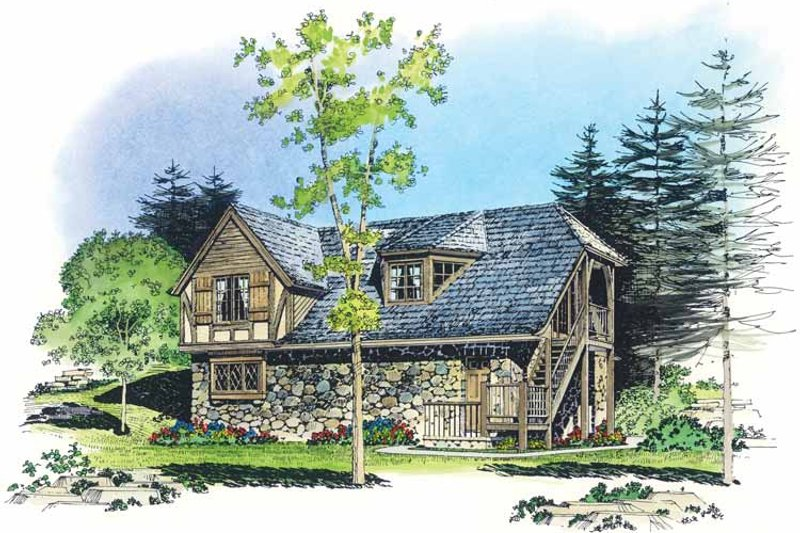 Architectural House Design - European Exterior - Front Elevation Plan #1016-88