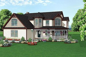 Traditional Exterior - Front Elevation Plan #75-137
