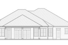 House Plan Design - Ranch Exterior - Rear Elevation Plan #938-74