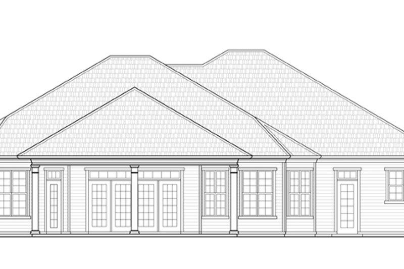 Ranch Exterior - Rear Elevation Plan #938-74 - Houseplans.com