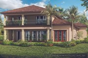 Mediterranean Style House Plan - 3 Beds 3 Baths 3648 Sq/Ft Plan #930-449 Exterior - Rear Elevation