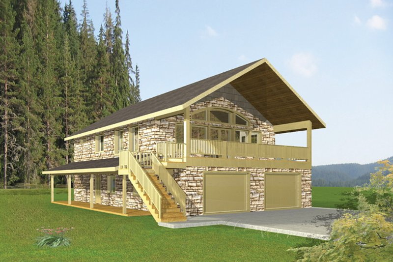 Country Exterior - Front Elevation Plan #117-836