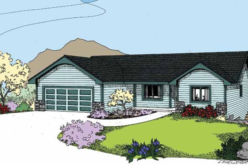 Country Exterior - Front Elevation Plan #60-1030 - Houseplans.com