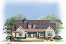House Plan Design - Craftsman Exterior - Rear Elevation Plan #929-746