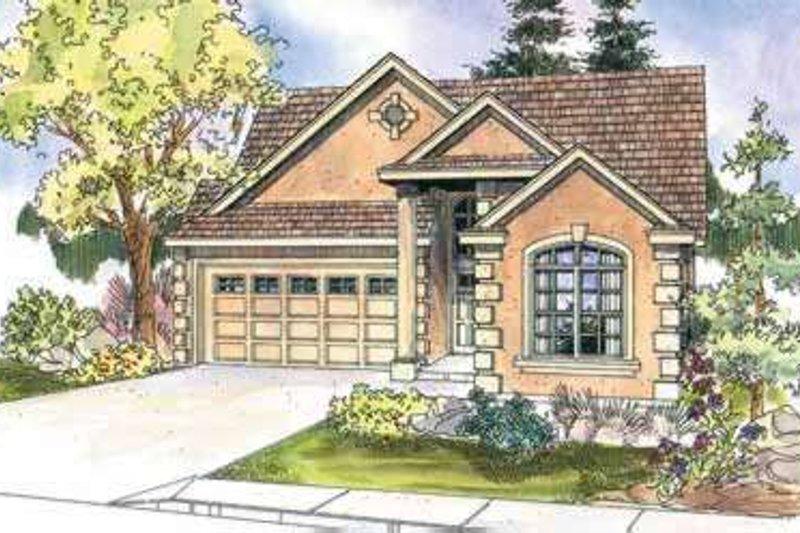 Dream House Plan - Mediterranean Exterior - Front Elevation Plan #124-606