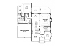 Craftsman Floor Plan - Main Floor Plan Plan #316-282
