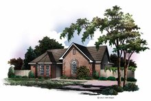 Ranch Exterior - Front Elevation Plan #952-163