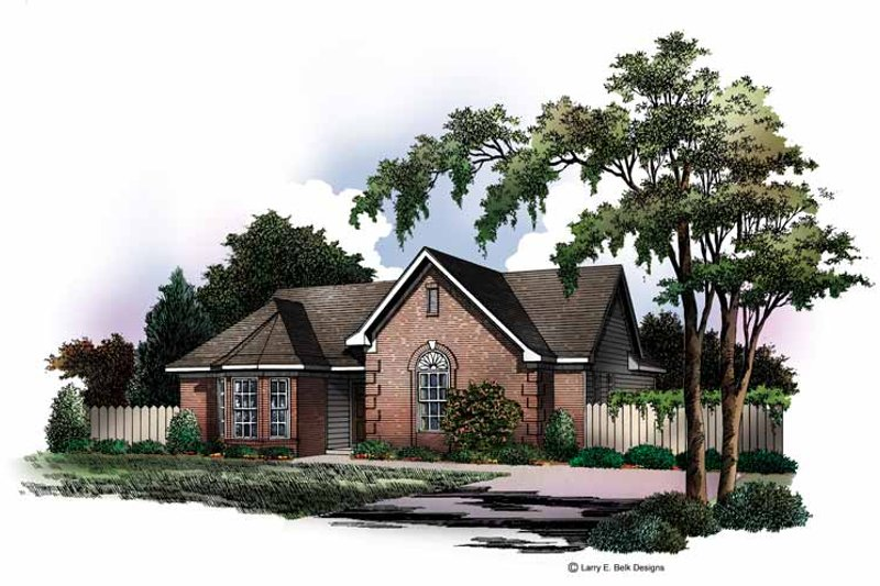 Ranch Exterior - Front Elevation Plan #952-163 - Houseplans.com