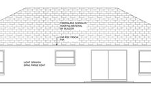 Architectural House Design - Mediterranean Exterior - Rear Elevation Plan #1058-33