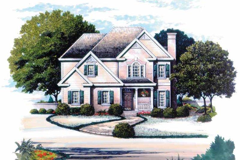 Colonial Exterior - Front Elevation Plan #429-152 - Houseplans.com