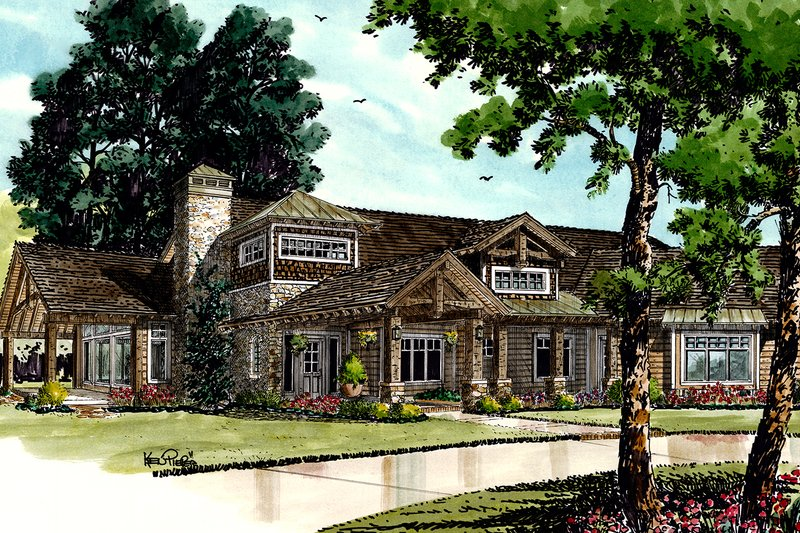 Ranch Exterior - Front Elevation Plan #942-32 - Houseplans.com
