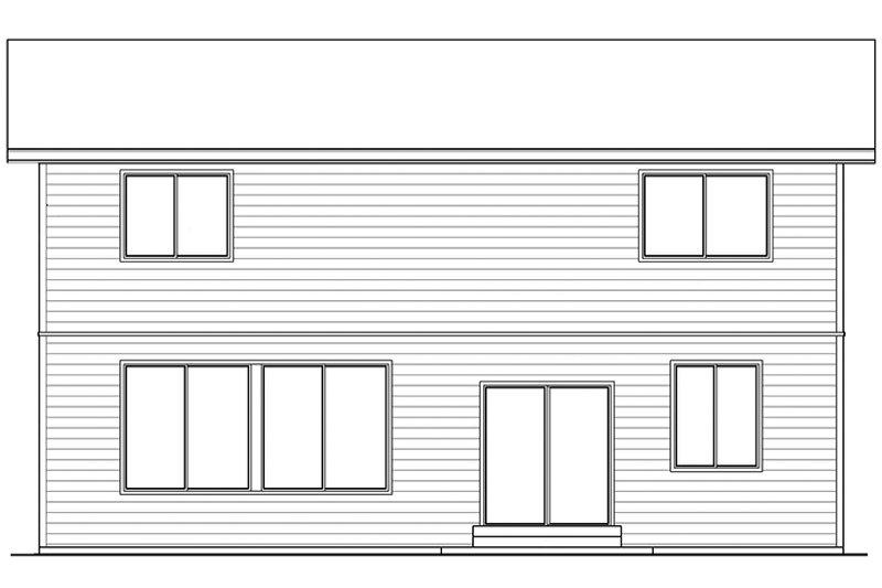 Contemporary Exterior - Rear Elevation Plan #569-15 - Houseplans.com