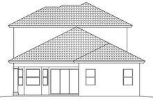 House Plan Design - Mediterranean Exterior - Rear Elevation Plan #1017-91
