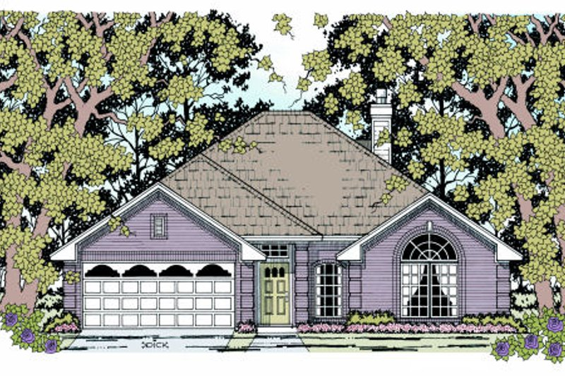 Traditional Style House Plan - 4 Beds 2 Baths 1701 Sq/Ft Plan #42-351