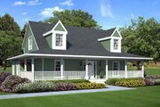 Country Style House Plan - 3 Beds 2.5 Baths 1907 Sq/Ft Plan #312-246 Exterior - Front Elevation