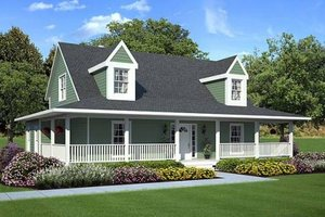 Country Exterior - Front Elevation Plan #312-246