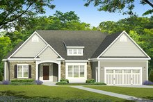 Home Plan - Ranch Exterior - Front Elevation Plan #1010-187