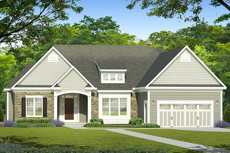 Architectural House Design - Ranch Exterior - Front Elevation Plan #1010-187