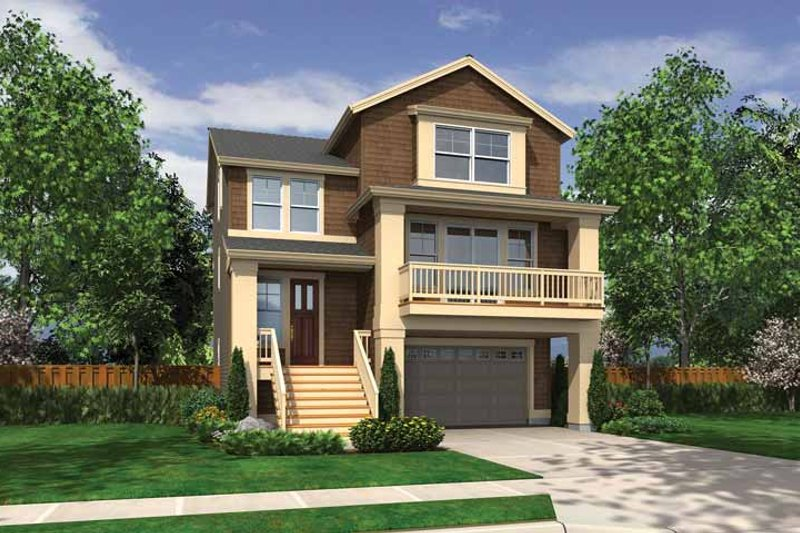 Craftsman Exterior - Front Elevation Plan #132-559 - Houseplans.com