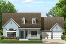 Colonial Exterior - Front Elevation Plan #1058-156