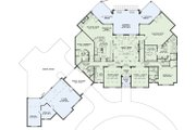 European Style House Plan - 6 Beds 6.5 Baths 6696 Sq/Ft Plan #17-2366 Floor Plan - Main Floor Plan