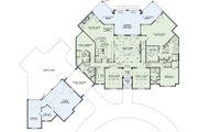 European Style House Plan - 6 Beds 6.5 Baths 6696 Sq/Ft Plan #17-2366 Floor Plan - Main Floor