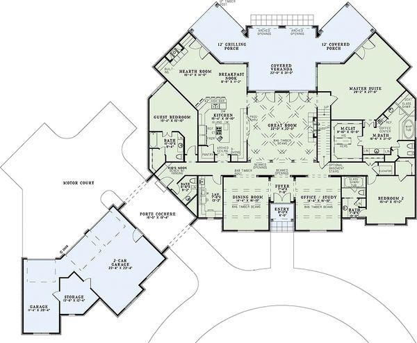 European Floor Plan - Main Floor Plan Plan #17-2366