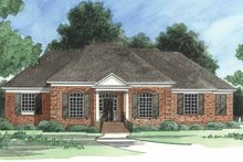 Colonial Exterior - Front Elevation Plan #1054-6