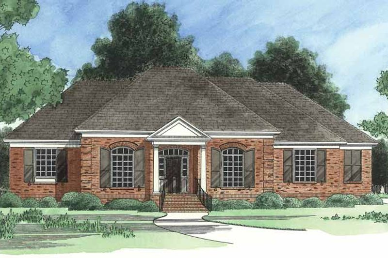 Country Exterior - Front Elevation Plan #1054-6 - Houseplans.com