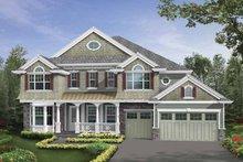 Architectural House Design - Craftsman Exterior - Front Elevation Plan #132-513